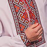 Підліткова вишиванка c червоно-помаранчевої вишивкою, фото 3