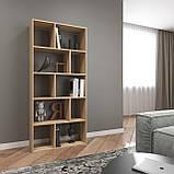 Книжная полка, стеллаж для книг и декора, этажерка для игрушек на 10 ячеек D-1, фото 3