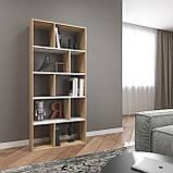 Книжная полка, стеллаж для книг и декора, этажерка для игрушек на 10 ячеек D-1, фото 7