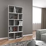 Книжная полка, стеллаж для книг и декора, этажерка для игрушек на 10 ячеек D-1, фото 8