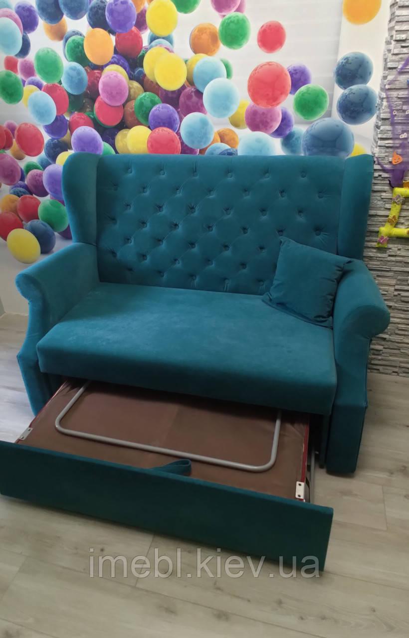 Компактний кухонний диван зі спальним місцем (Синій)