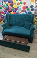 Компактний кухонний диван зі спальним місцем (Синій), фото 1