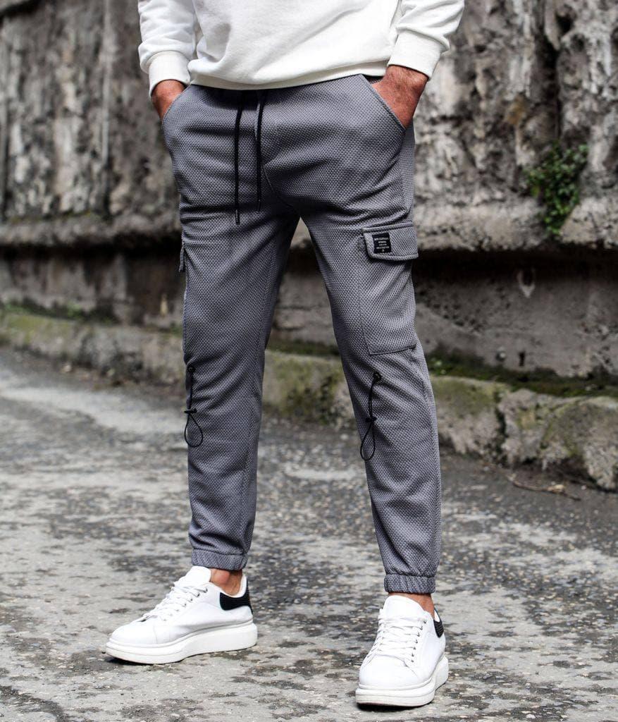 Чоловічі штани-карго сірі Фазер