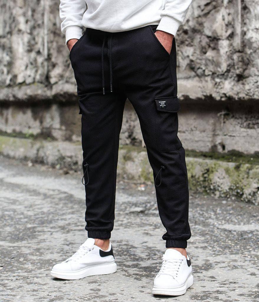 Чоловічі штани-карго чорні Фазер