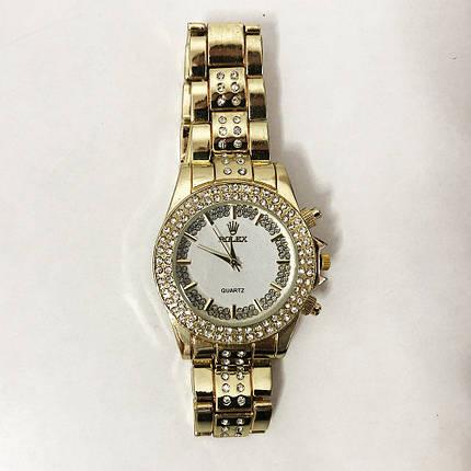 Часы наручные женские Rolex Women Luxury. Цвет: золотой, фото 2