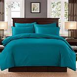 Комплект постельного белья однотонный Бязь GOLD 100% хлопок  Красного цвета, фото 3