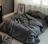 Комплект постельного белья однотонный Бязь GOLD 100% хлопок Черного цвета, фото 3