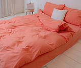 Комплект постельного белья однотонный Бязь GOLD 100% хлопок Черного цвета, фото 5