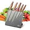 Набор ножей Kamille 6 предметов из нержавеющей стали на подставке с мраморным покрытием KM-5046, фото 6
