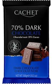 Бельгійський темний шоколад Cachet 70% какао 300 г.
