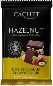 Бельгійський темний шоколад Cachet лісовий горіх 300 г.