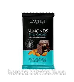 Бельгійський темний шоколад Cachet мигдаль 300 г.