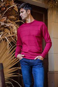 Джемпер мужской 154R2030 цвет Бордовый