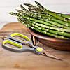 Ножиці Kamille кухонні 21.5 см із нержавіючої сталі з пластиковими ручками і орехоколом KM-5183, фото 7