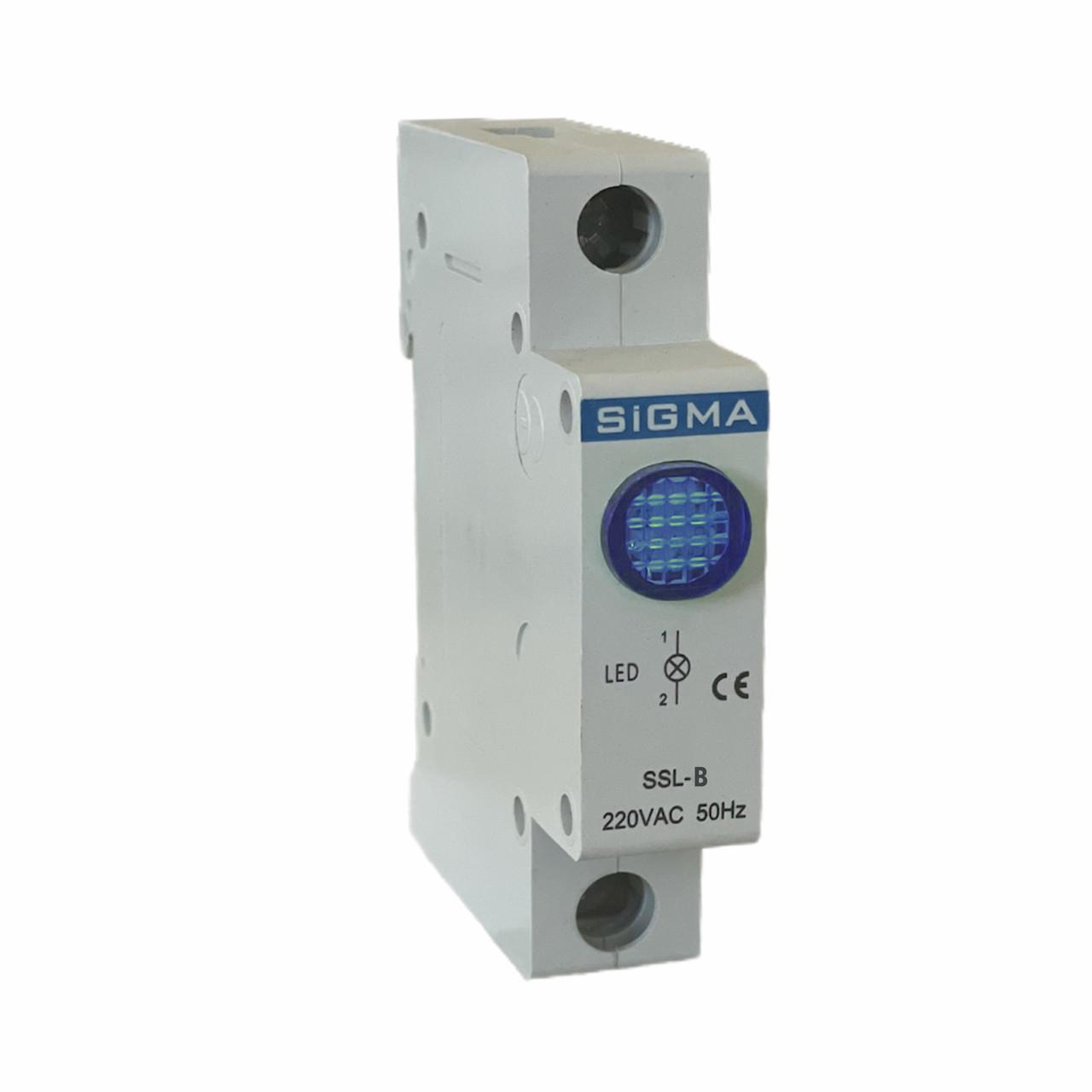 Модуль доп устройство индикатор сигнальный контакт синий для автомат выключателя DIN-рейку 24В DС