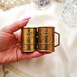Старая бронзовая чашечка, подставка под зубочистки, солонка, бронза,, Германия, фото 3
