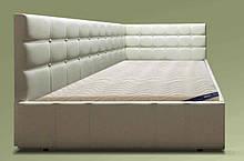 Кутова ліжко Ліон в м'якій оббивці