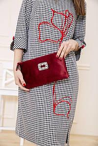Клатч-сумка 154R003-6192 колір Бордовий