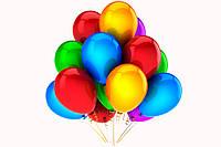 """Повітряні кульки """"Крістал асорті 12"""" 100 шт."""