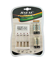 Зарядное устройство аккумуляторных батарей JIABAO JB-212 + аккумуляторы 4 шт. (AA) (GK)