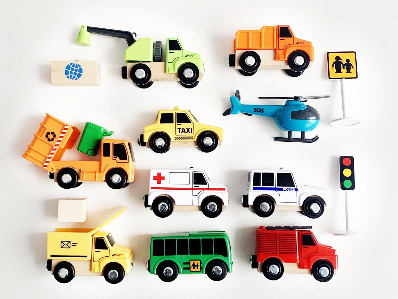 Набор машинок для деревянной железной дороги PlayTive Brio Ikea 4