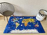 """Безкоштовна доставка! Килим в дитячу """"Карта світу""""140х190см., фото 2"""