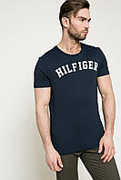 Футболка мужская Tommy Hilfiger, темно-синяя томми хилфигер, фото 1