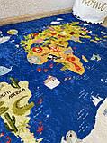 """Безкоштовна доставка! Килим в дитячу """"Карта світу""""140х190см., фото 5"""