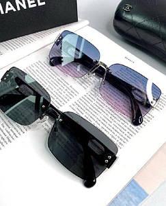 Женские солнцезащитные квадратные очки Шанель реплика Разные цвета