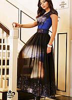 Платье с сеткой на юбке | Фабиана lzn