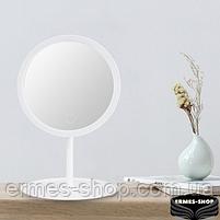 Косметическое зеркало с LED подсветкой и встроенным аккумулятором, фото 3