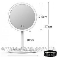 Косметическое зеркало с LED подсветкой и встроенным аккумулятором, фото 5