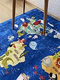 """Бесплатная доставка! Ковер в детскую """"Карта мира""""140х190см., фото 6"""