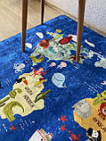 """Безкоштовна доставка! Килим в дитячу """"Карта світу""""140х190см., фото 6"""