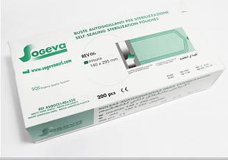 Стерилизационные пакеты Sogeva самоклеющие  60х110 мм 200 шт