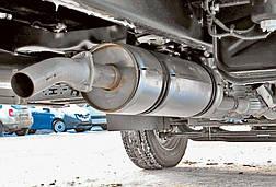 Замена глушителя в грузовом автомобиле