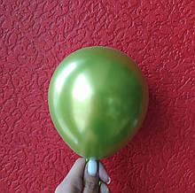 """Латексный шар хром оливка 5 """"(13см) Китай"""