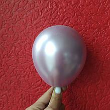 """Латексный шар хром пудровый 5 """"(13см) Китай"""