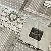 Ткань Прованс с серыми квадратами, ширина 144 см