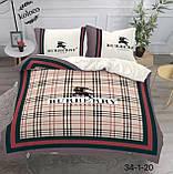 Комплект постельного  белья двухсторонний Гермес Сатин Эксклюзив Премиум качество   Евро размер Леопардовый, фото 8