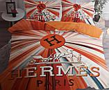 Комплект постельного  белья двухсторонний Гермес Сатин Эксклюзив Премиум качество   Евро размер Леопардовый, фото 9