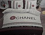Комплект постельного  белья двухсторонний Гермес Сатин Эксклюзив Премиум качество   Евро размер Леопардовый, фото 10