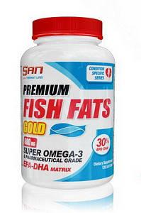 Жирные кислоты SAN Premium Fish Fats Gold, 120 капсул