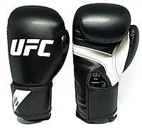 Перчатки боксерские PU на липучке UFC PRO Fitness (PU, р-р 12oz)
