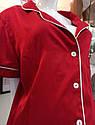 Піжама жіноча шовк армані у червоному кольорі. ТМ Lekol. S. M. L, фото 4