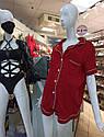 Піжама жіноча шовк армані у червоному кольорі. ТМ Lekol. S. M. L, фото 2