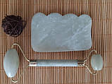 Набор массажер роллер для лица и тела плюс скребок Гуаша, фото 2