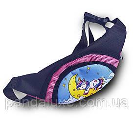 Поясная сумка детская бананка через плечо барыжка на пояс для девочки Единорог
