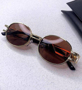 Женские солнцезащитные овальные очки Версаче реплика Разные цвета