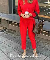 Женский стильный брючный костюм с блузкой, фото 1